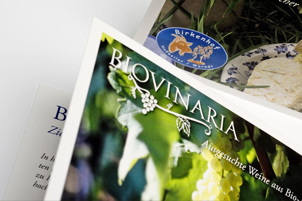 Design Werbe-Klappkarte Weinhandel