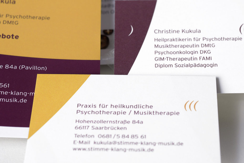 Corporate Design Praxis Musiktherapie
