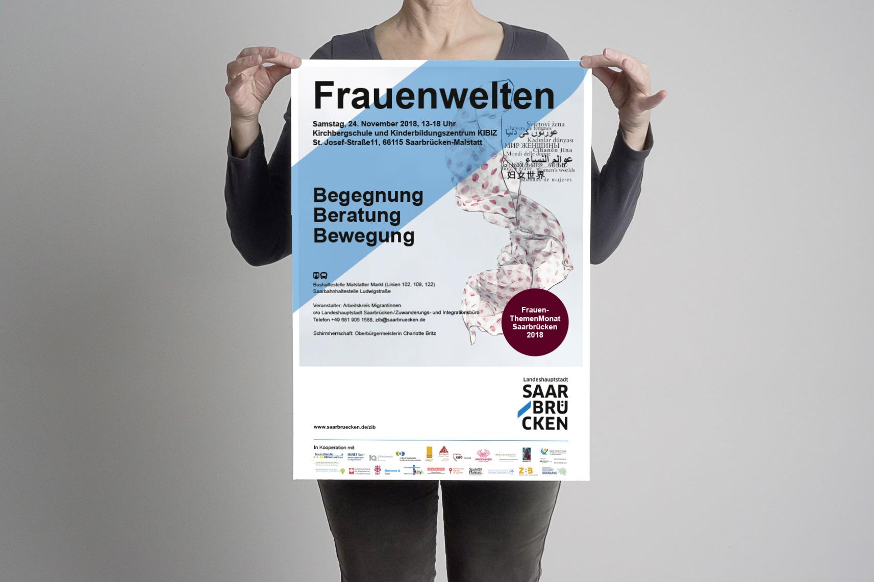Plakat Event Frauenwelten Saarbruecken 2018 Foto
