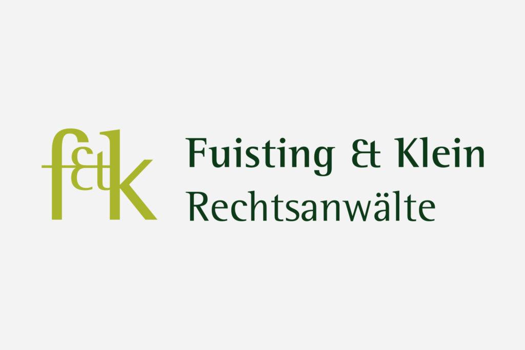 Grafikdesign Logo / Signet Fuisting & Klein Rechtsanwälte Saarbrücken