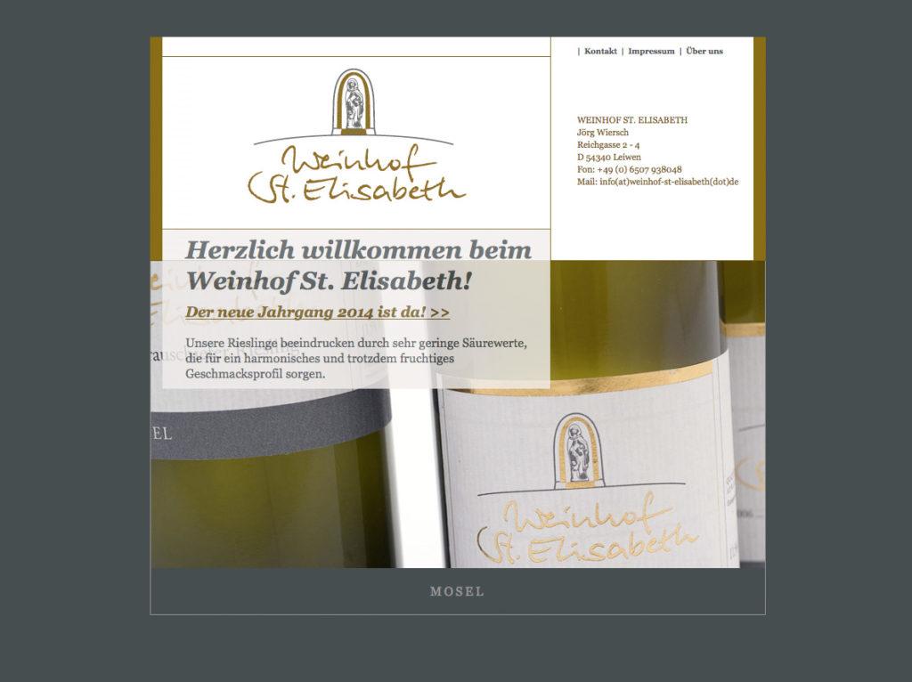 Webdesign Weinhof St. Elisabeth 54340 Leiwen