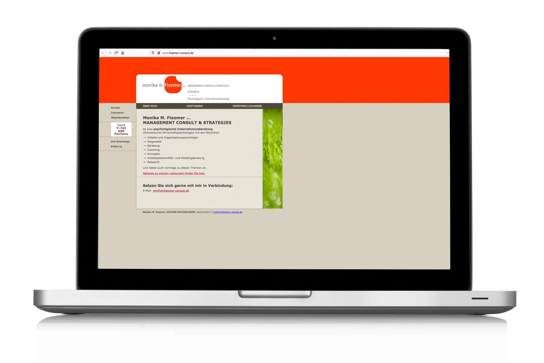 Unternehmensberatung Monika Fixemer Website