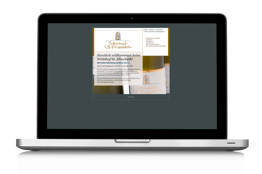 Webdesign Weingut St. Elisabeth Leiwen