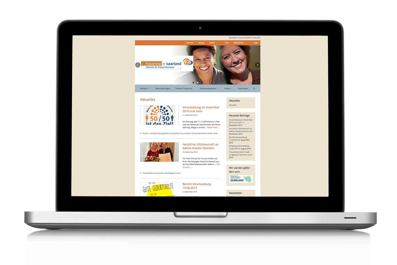 Dachverband Frauenrat Saarland Webdesign Startseite