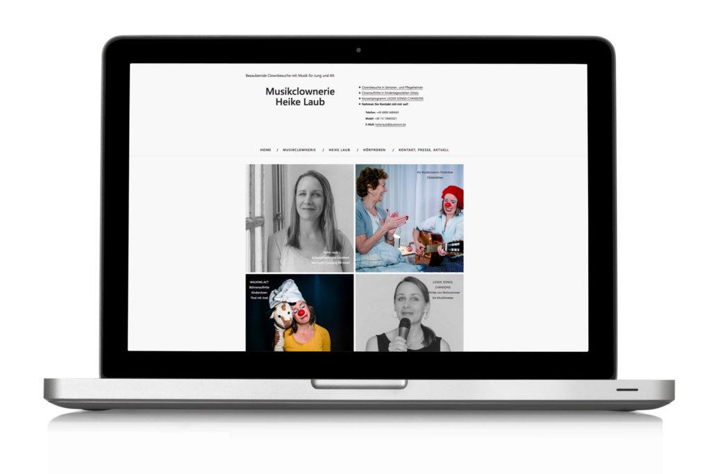 Webdesign Musikclownerie Heike Laub