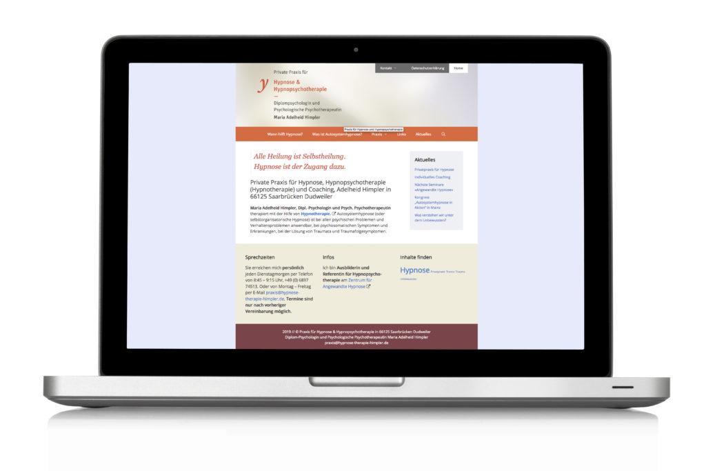 Webdesign Praxis für Psychotherapie