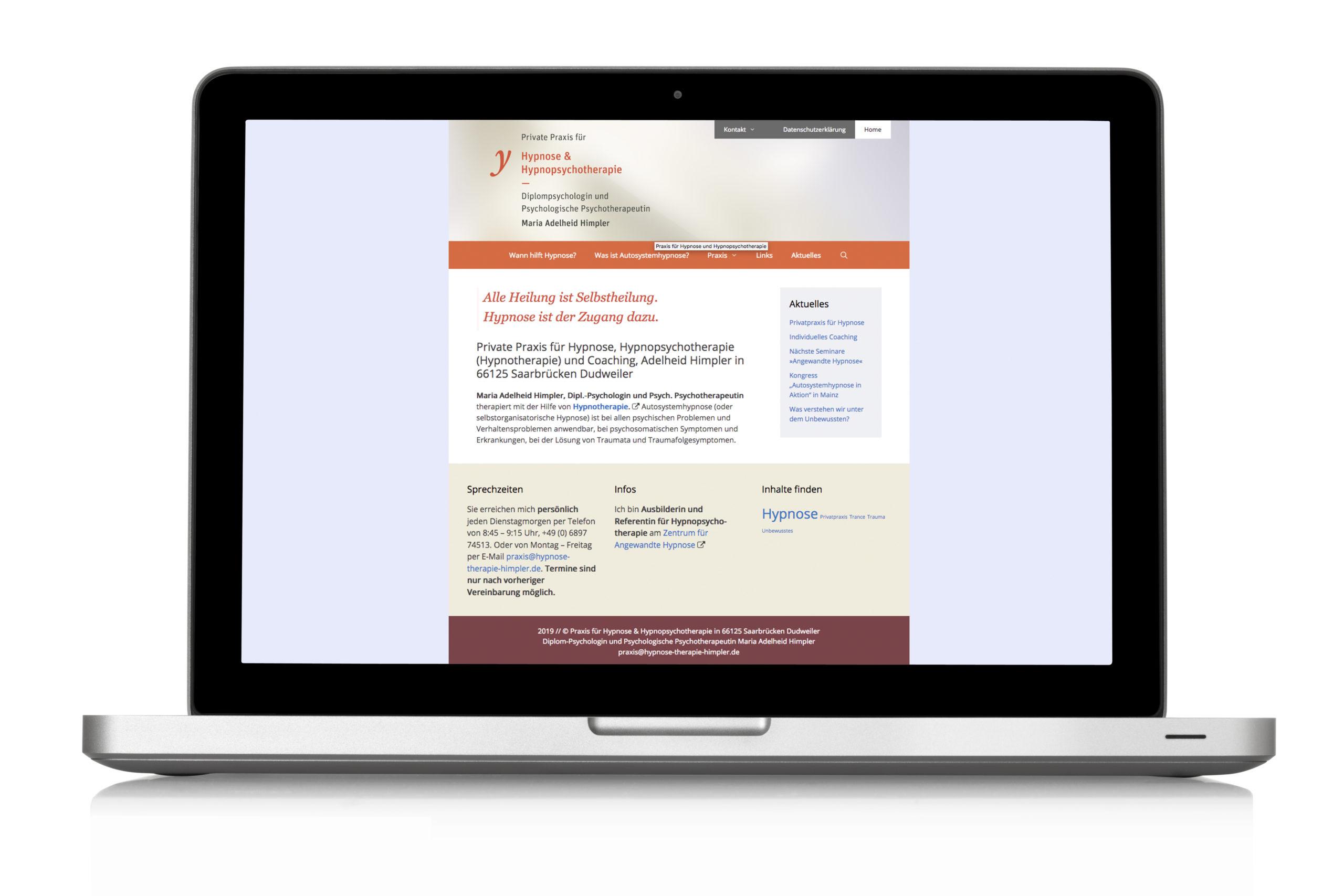 Webdesign Schuhhersteller Himpler Hypnopsychotherapie Website