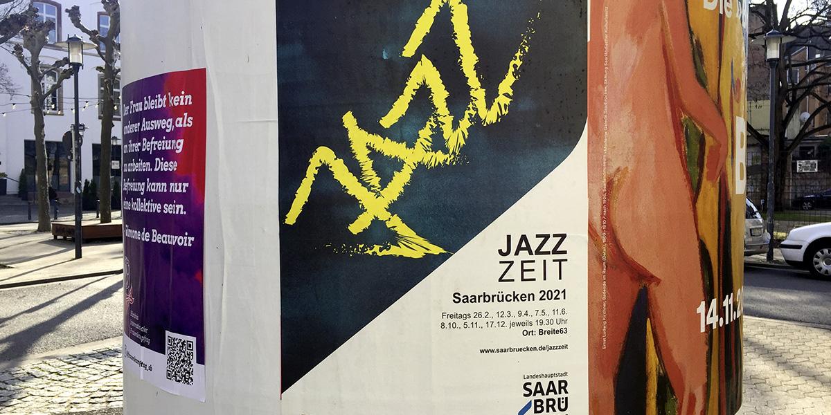 Plakat für die Jazzzeit 2021 in Saarbrücken